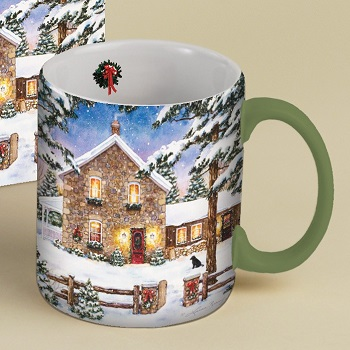 "Lang & Wise Mug - ""Nestled In The Pines"" - Artist Laura Berry"