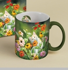 "Lang & Wise Mug  - ""Please Don't Eat The Zinnias"" - Artist  Susan Bourdet"