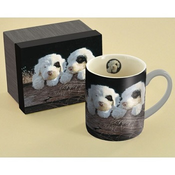 "Lang & Wise Mug - ""Puppies "" - Artist Jim Lamb"