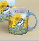 "Lang & Wise Mug - ""Summer Blue Jay""   - Artist Jane Shasky"