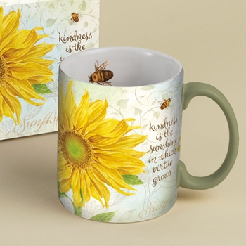 "Lang & Wise Mug  - ""Virtue Grows"" - Artist  Jane Shasky"