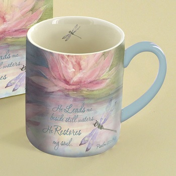 "Lang & Wise Mug - ""Waterlily"" - Artist Susan Winget"