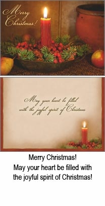 """Boxed Christmas Cards  - """"Red Candle and Potpourri"""""""