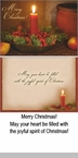 "Boxed Christmas Cards  - ""Red Candle and Potpourri"""