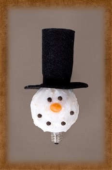"Light Bulb - ""3 Watt Snowman With A Top Hat Bulb"""