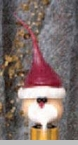 "Light Bulb - ""Primitive Santa Light Bulb"""