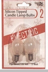 "Light Bulb - ""Silicon Tipped Candle Lamp Bulbs"" - Pack of 2"