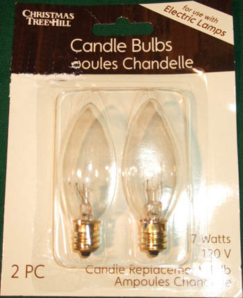 Light Bulb - Torpedo Bulb - 7 Watt Candle Light Bulb - Pack of 2
