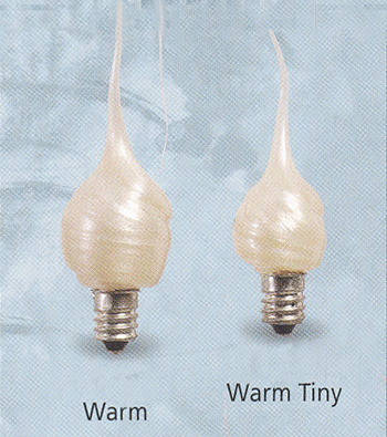 "Light Bulbs -  ""Warm Glow Candelabra Base Light Bulbs"""