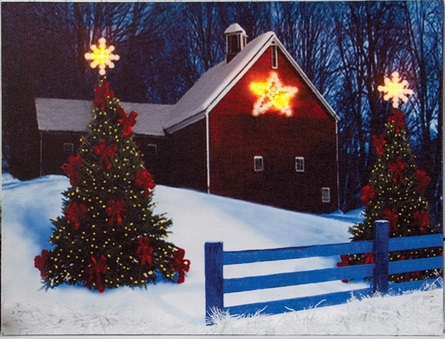 "Lighted Canvas Pictures - ""Barn Star"""
