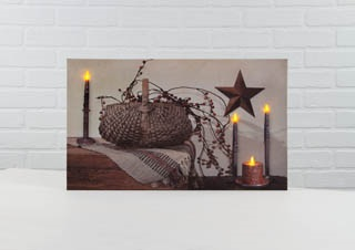 "Lighted Canvas Pictures - ""Berry Basket"""