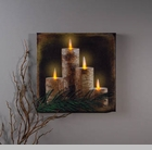 "Lighted Canvas Pictures - ""Birch Candle"""