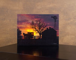 "Lighted Canvas Pictures - ""Buggy's Wating"""