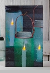 "Lighted Canvas Pictures - ""Canning Jar"""