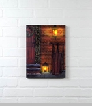 "Lighted Canvas Pictures - ""Christmas Door"""