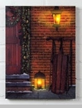 """Lighted Canvas Pictures - """"Christmas Door"""""""