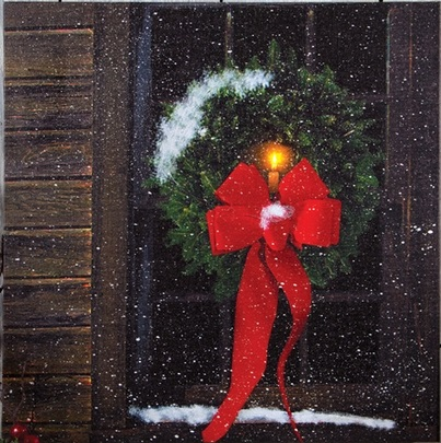 "Lighted Canvas Pictures - ""Christmas Window"""