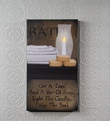 "Lighted Canvas Pictures - ""Enjoy The Soak"""