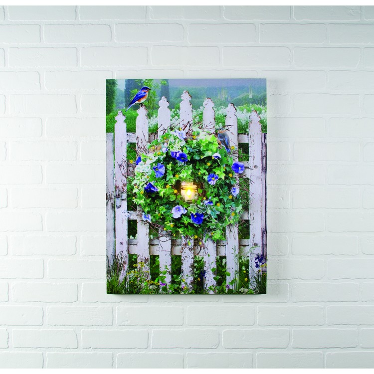 """Lighted Canvas Pictures - """"Garden Gate"""""""