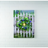 "Lighted Canvas Pictures - ""Garden Gate"""