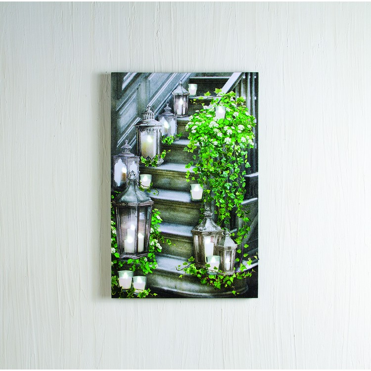 """Lighted Canvas Pictures - """"Garden Staircase"""""""