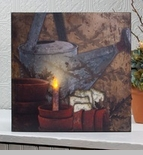 "Lighted Canvas Pictures - ""Gardeners"""