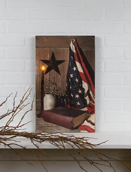 "Lighted Canvas Pictures - ""God And Country"""
