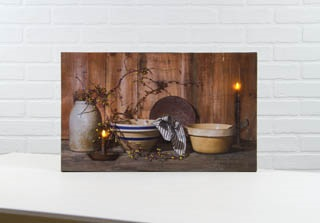 "Lighted Canvas Pictures - ""Home Cooking"""