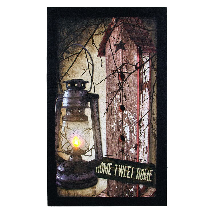 """Lighted Canvas Pictures - """"Home Tweet Home"""""""