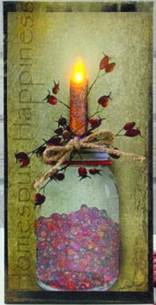 """Lighted Canvas Pictures - """"Homespun Happiness"""""""