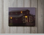 "Lighted Canvas Pictures - ""Horse Barn"""