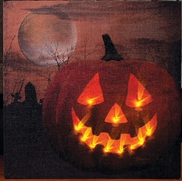 "Lighted Canvas Pictures - ""Jack O Lantern"""