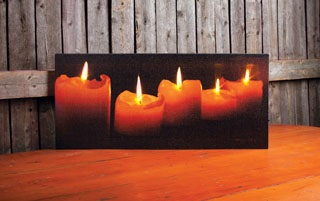 "Lighted Canvas Pictures - ""Lighted Candles"""