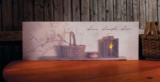 "Lighted Canvas Pictures - ""Live, Laugh, Love"""