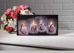 """Lighted Canvas Pictures - """"Love By Candle Light"""" - 12"""""""
