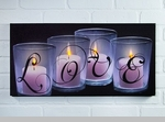 """Lighted Canvas Pictures - """"Love By Candle Light"""" - 24"""""""