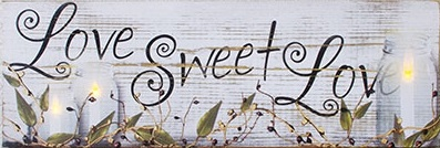 "Lighted Canvas Pictures - ""Love Sweet Love"""