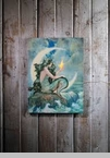 "Lighted Canvas Pictures - ""Moon Mermaid"""