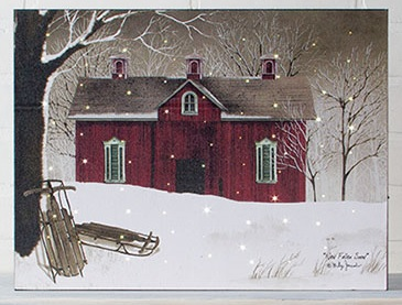 "Lighted Canvas Pictures - ""New Fallen Snow"""