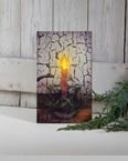 "Lighted Canvas Pictures - ""Primitive Candle"""