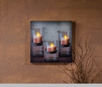 "Lighted Canvas Pictures - ""Recycled Glass"""