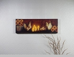 "Lighted Canvas Pictures - ""Rooster Mantel"""