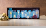 "Lighted Canvas Pictures - ""Row Of Canning Jars"""