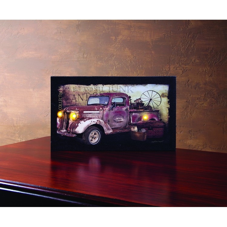 """Lighted Canvas Pictures - """"Taking Treasures Home Truck"""""""