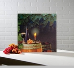 "Lighted Canvas Pictures - ""Wine By Candle Light"""