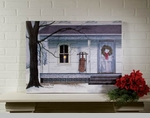 "Lighted Canvas Pictures - ""Winter Porch"" -Large"