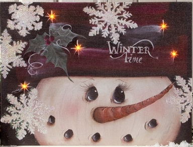 "Lighted Canvas Pictures - ""Winter Time"""