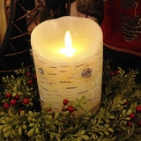 "Luminara� Flameless Candle - Battery Operated 3"" x 5""- Birch Bark"