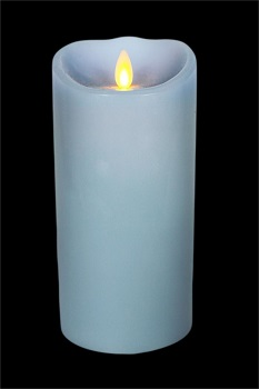 "Luminara� Flameless Candle - Battery Operated 3"" x 7"" Sky Blue Candle"""