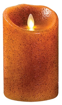 "Luminara� Flameless Candle - Battery Operated 3"" x 7"" Yam Color  Candle"""